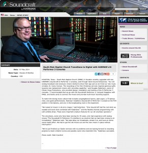 Soundcraft article about SMBC installation